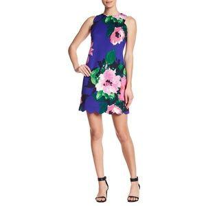 New VINCE CAMUTO Cobalt Scalloped Scuba Dress 2